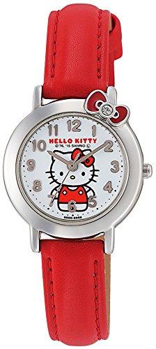[シチズン Q&Q] 腕時計 アナログ ハローキティ 防水 革ベルト Hello Kitty (ハローキティ) HK23-001 レッド