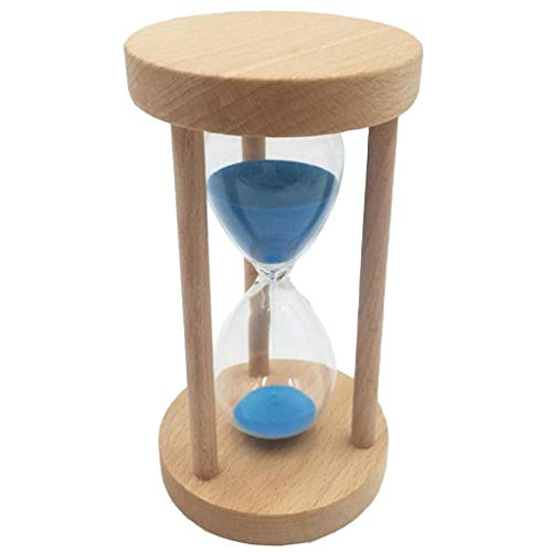 Perfeclan 6/8/12/18 Minuten Holzrahmen Sanduhr Sandglass Eieruhr Timer mit blauem Sand - 18min