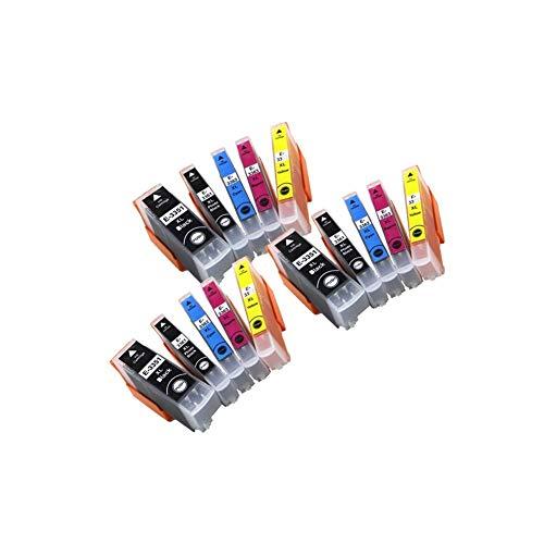 Wschen 33XL T33 T3351 T3361-T3364 Cartucho de Tinta Compatible for el XP-530 XP-530 XP-630 XP-830 XP-635 XP-540 XP-640 impresoras de Tinta Completa (Color : 3 X BK BK C M Y)
