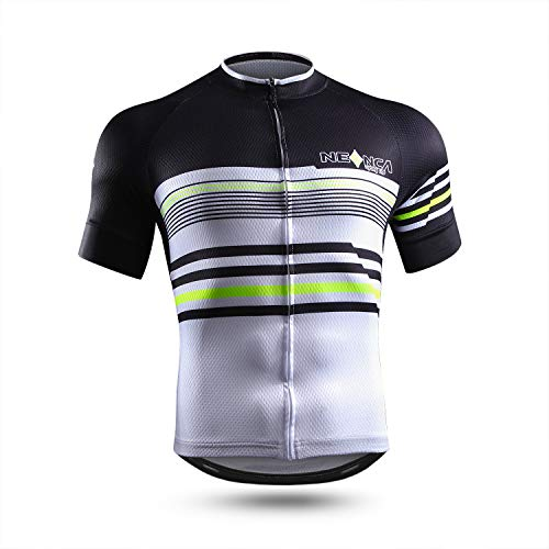 NEENCA Men's Cycling Bike Jersey Short/Long Sleeve with 3 Rear Pockets,Cycling Biking Shirt Full Zipper Breathable Quick Dry