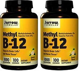 【2個セット】Jarrow Formulas メチルB-12 (ビタミンB12) レモン風味 1000mcg 100粒 [並行輸入品]