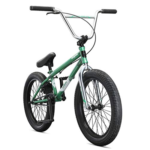 Mongoose Legion L60 Freestyle BMX Bike Line for Beginner-Level to Advanced Riders, Steel Frame, 20-Inch Wheels, Green