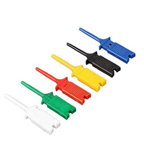 trifycore 12 PCS 6 couleurs Petit crochet de la preuve Grabber Clip, Sonde Unique pour PCB SMD IC multimètre Cable DIY