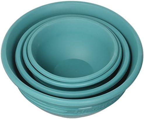 Le Creuset Silicone Prep Bowls, Set of 4 - 1/4c, 1/3c, 1/2c & 1 cup, Cerise