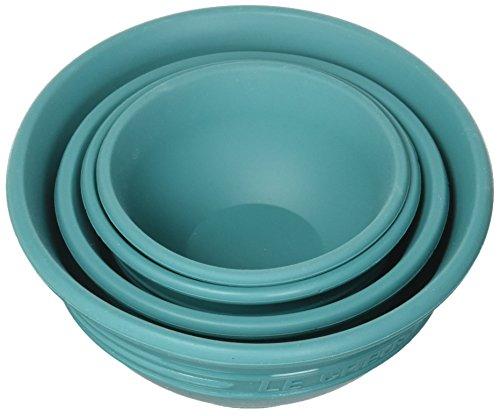 Le Creuset FA205-17 t Silicone Prep Bowls, 1/4c, 1/3c, 1/2c & 1 cup, Caribbean