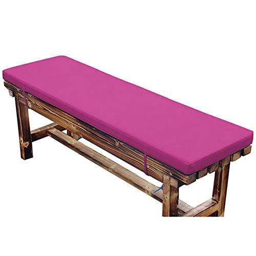 Yoole EU - Cuscino per panca da giardino, 2 3 4 posti, impermeabile, per esterni, rettangolare, per dondolo (150 x 40 x 3 cm, colore: viola
