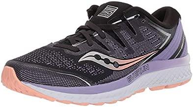 Saucony Women's Guide ISO 2 Running Shoe, Black/Purple, 5 M US