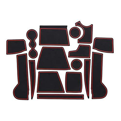 CDEFG para V W Tiguan 2 Coche Accesorios Antideslizante Copa Mats Anti Slip Puerta Ranura de Acceso Kit de la Estera del cojín de la Ranura decoración de Interiores (Rojo)