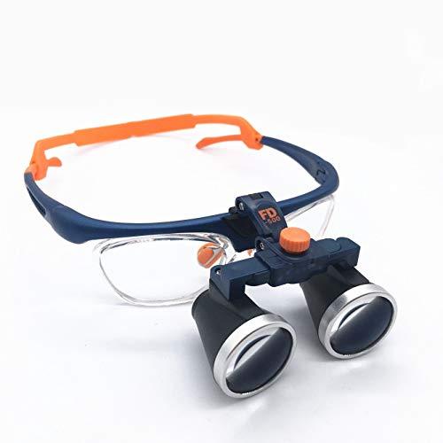 Lupas binoculares quirúrgicas dentales profesionales para dentistas, gafas de ajuste bidireccional médicas, anteojos de lupa binocular, aumento 3.5X, distancia de trabajo 420 mm