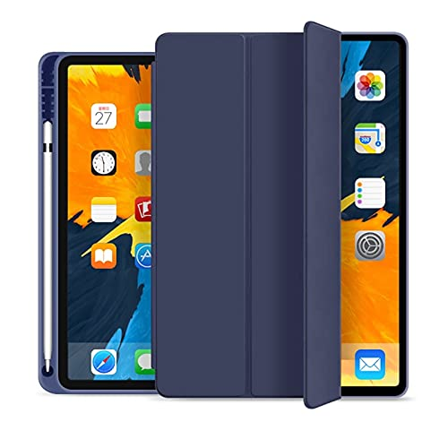 RZL PAD & TAB cases For iPad Pro 11 2020, Shockproof Stand Back Shell Protective Tablet Case for iPad Generation 2nd with Film (Color : Dark blue)
