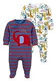 next Baby - Jungen Elefanten-Schlafanzüge, 4Er-Pack Blau 3-6 Monate
