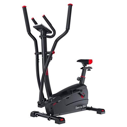 Pyrojewel Control magnético máquina elíptica cubierta aparatos de ejercicios paso a paso del caminante del espacio de silencio ajustable 100 kg portante gimnasio Use (Color: NEGRO, Tamaño: 52,5 * 114