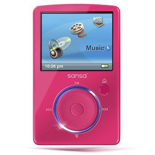 SanDisk Sansa Fuze MP3-/Video-Player 4 GB mit Radio pink