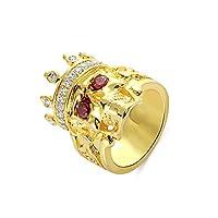 925銀製 髑髏リング 王冠 宝石 かっこいい 個性的 クール ゴシック レトロ アンティーク風 メンズ レディース ゴールド シルバー