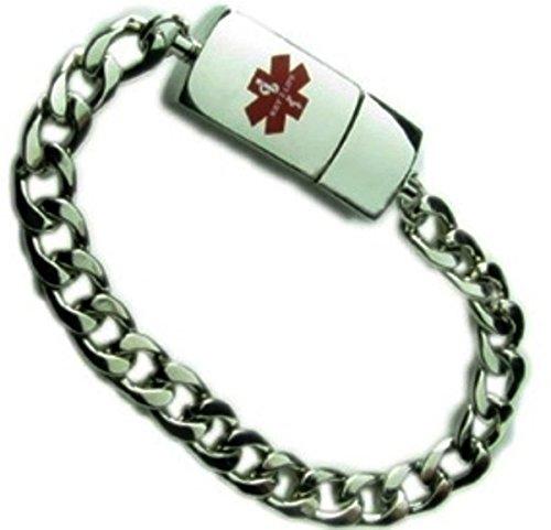 Throwback Legacy EMR MediChip ID Bracelet by Key2Life (Silver Tone)