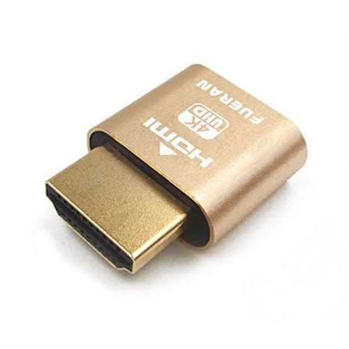HDMI Display Emulator 仮想コネクタ幻影ディスプレイエミュレーターDDC EDIDエミュレーター、偽エミュレータ(fit Headless 4K @ 60Hz)
