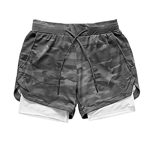 CHENJUNAMZ Correr Pantalones Cortos Hombres rápido seco Gimnasio Deporte Fitness Jogging Masculino Entrenamiento Pantalones para Correr (Color : Gratis, Size : L)