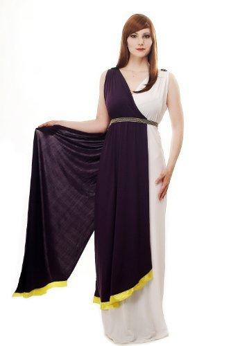 DRESS ME UP Kostüm Damen Damenkostüm Kleid Toga Antike Göttin Sparta Griechin Rom Römerin L074 Gr. 44 / L
