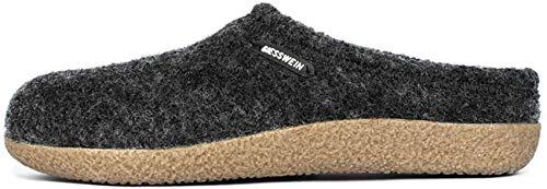 GIESSWEIN Hausschuh Veitsch - In-/Outdoor Filz-Pantoffeln mit wechselbarem Fußbett, rutschfeste Damen & Herren Woll-Hausschuhe