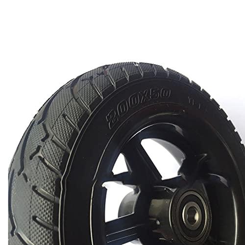 TADYL Rueda de 8 Pulgadas para Scooter Neumáticos sólidos 200x50 Ruedas Neumáticos de Cubo de Rueda eléctricos no neumáticos para Scooter eléctrico, Negro