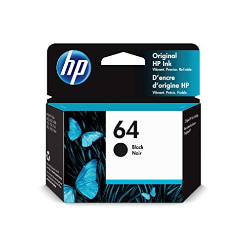 HP 64   Ink Cartridge   Black   Works with HP ENVY Photo 6200 Series, 7100 Series, 7800 Series, HP Tango and HP Tango X   N9J90AN