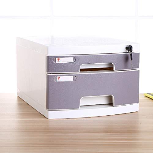 TuCY Bureau-organizer, A4-formaat, opbergdoos, afsluitbaar, kunststof, voor kantoor en thuis