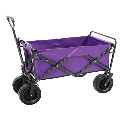 Outdoor Folding Utility Wagon Folding Camping Cart, 4 Wheeled Trolley, Outdoor Heavy Duty Beach Cart, for Garden Fishing, Load-Bearing 85kg/187lbs (Color : Style 3)