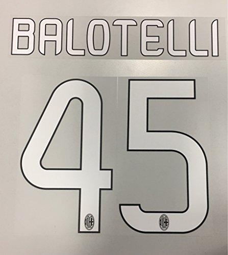 Flock Original AC Mailand Trikot 25cm - Balotelli 45