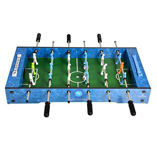 LXHONG Colchoneta Gimnasia Futbolín De 6 Barras, Futbolín De Mesa De Juego De Interior, Juguetes Educativos para Niños. por Adultos Niños Fácil De Almacenar (Color : Blue, Size : 68.5X37X10CM)