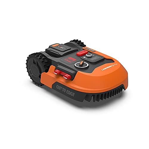 WORX Landroid PLUS WR167E Mähroboter für Gärten bis 700 qm mit WLAN, Bluetooth und schwimmendem Mähdeck