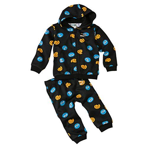 PUMA Kinder Sesame Street Trainingsanzug, Black, 68