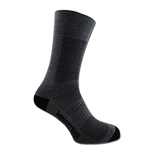 Wrightsock Socken Coolmesh II doppel-lagig grau Größe L