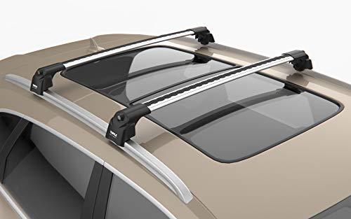 KREMER Juego Barras de Techo travesaños Volvo XC60 (2008-2017), Aluminio, Turtle, Soporte de Barra Longitudinal, Antirrobo, Plateado