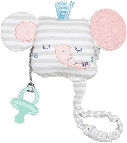 Cheeky Chompers Handychew - Beißspielzeug für Babys - Liebenswerte Zahnungshilfe mit Rassel und sensorischen Extras zur 100% sicheren Stimulation, zum Beruhigen und Kuscheln (Darcy the Elephant)