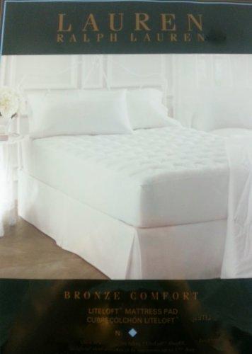 White Cotton Mattress Pad TWIN XL
