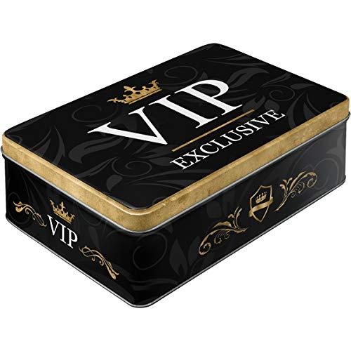 Nostalgic-Art VIP Exclusive 30729 - Caja Decorativa metálica, 23,4 x 16,2 x 7,8 cm, Color Negro