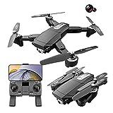 S604 Pro GPS Drone Plegable con cámara Dual 4K para Adultos, WiFi FPV Quadcopter con Motor sin escobillas, Drone de...