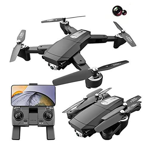 S604 Pro GPS Drone Plegable con cámara Dual 4K para Adultos, WiFi FPV Quadcopter con Motor sin escobillas, Drone de Flujo óptico 4K HD, Vuelo de 60 Minutos con 2 baterías