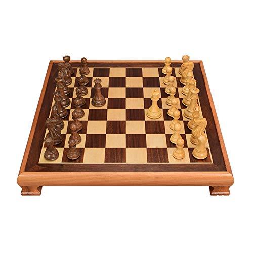 XWW Juego de ajedrez Internacional Tradicional con Caja de Almacenamiento, Tablero de Juego de Torneo para Amantes y aprendices del ajedrez, Juego dedicado (48,4 x 48,4 x 7,1 cm)