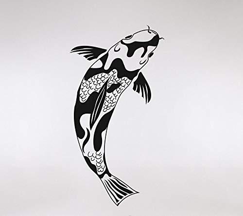Hetingyue Muurstickers Fisch Koi in verschillende kleuren verkrijgbare wandstickers van vinyl decoratie voor thuis of woonkamer wanddecoratie wandsticker muursticker waterdicht