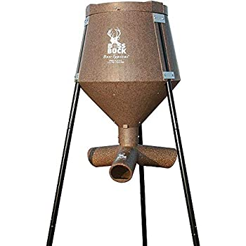Sejahtera Group 200 Pound Gravity Fed Tripod Game Deer Corn and Protein Pellet Feeder