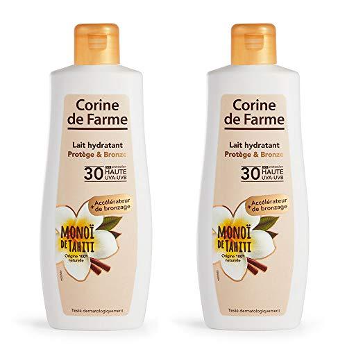 CORINE DE FARME Lait Hydratant Protège/Bronze SPF30 - Lot de 2