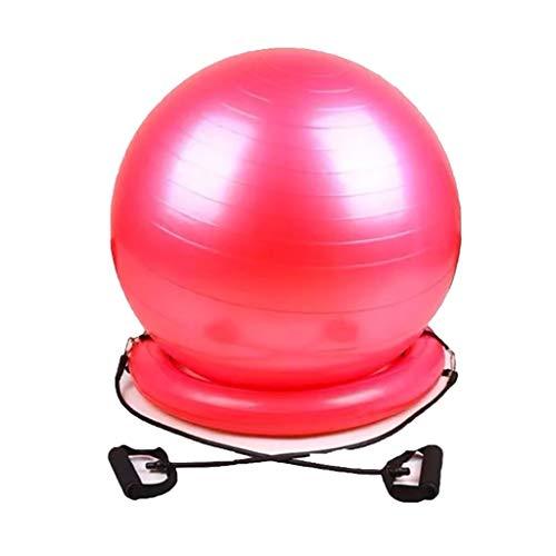 WANGYI Yoga Bal Met Stabiliteit Basis, Verstelbare Weerstand Bands Extra Dikke Balans Bal Lek-Proof Birthing Bal Voor Thuis Gym Office Zwangerschap (65cm )