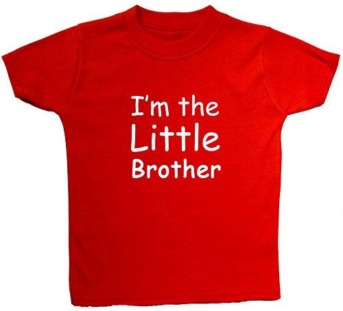 Acce Products I'm The Little Brother à Manches Courtes pour bébé/Enfant/Hauts 0 à 5 Ans - Rouge - XXXS