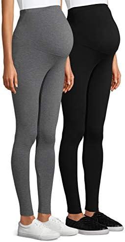 Gaoport 2 Pack Womens Maternity Leggings Soft Maternity Cotton Legging Full Ankle Length Pregnancy product image