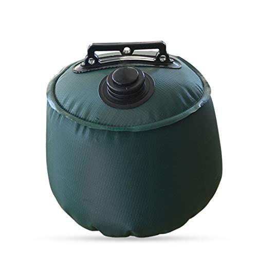 Bolsa de peso de agua resistente con diseño de silla de montar verde para patio trasero (6L/10L)