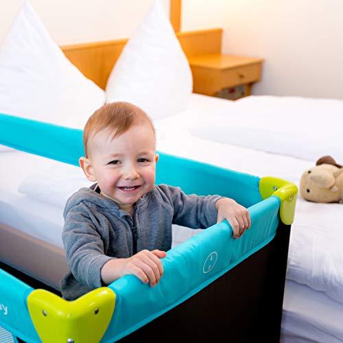 Hauck Kinderreisebett Dream N Play / inklusive Einlageboden und Tasche / 120 x 60cm / ab Geburt / tragbar und faltbar, Wasser (Blau) - 6