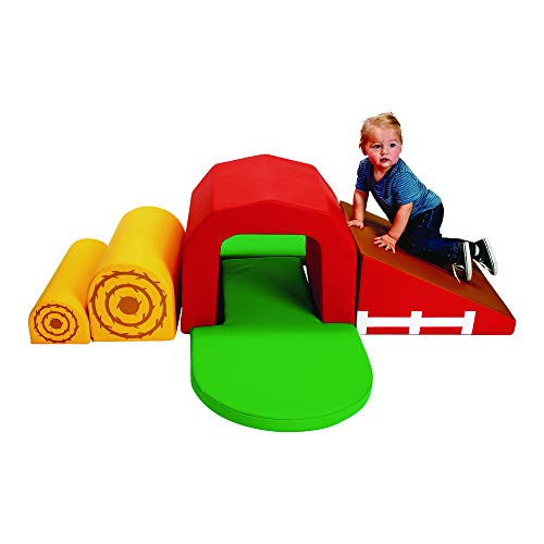Check Out This Soft Play Barn and Tunnel Climber by Environments, Farm-Themed Playset for Infants an...