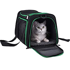 petisfam Pet Carrier for Medium Cats and Small Dogs. Easy to get cat in and Escape Proof