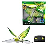 eBird Green Parrot - Flying RC Bird Drone Toy for Kids. Indoor / Outdoor Remote Control Bionic Flapping Wings Bird Helicopter. USB Recharging.